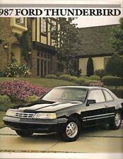 Ford Thunderbird 1987 USA Market Sales Brochure Standard Sport LX Turbo