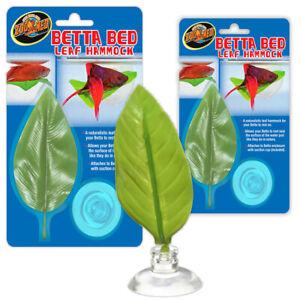 Zoo Med Floating Betta Bed Leaf Hammock Siamese Fighter Fish Aqarium Decoration