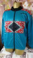 vintage rare my bike warm cycling  fleece men's multicolour zip jacket size M d