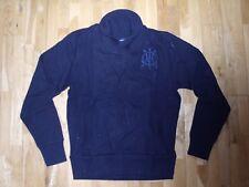 GANT Cuello Chal Costilla de punto manga larga Suéter Jersey Rugby Azul Marino