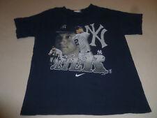 Nike Team Derek Jeter Shirt Youth New York Yankees Mlb Kids Navy Blue Boy Tee >>