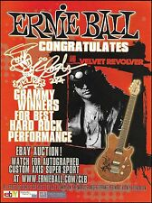 Slash Custom Ernie Ball Music Man Axis Super Sport Guitar 8 x 11 ad print