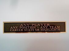 Any Player Nameplate For A Signed Football Jersey Display Case Or Photo 1.5 X 6