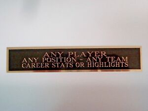 Custom Engraved Name Plate For A Basketball Jersey Display Case Or Photo 1.25X6