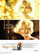 PUBLICITE ADVERTISING 096  1963  L'Oréal  shampooing colorant Régé Color jeuness