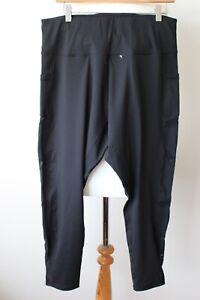 YoHo YoHa  Black Yoga Pants Leggings With Pockets And Decorative Mesh Size 3XL