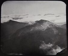 Glass Magic Lantern Slide ON BEN NEVIS ABOVE THE CLOUDS C1890 PHOTO SCOTLAND