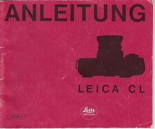 Leitz Bedienungsanleitung für Leica CL  - Anleitung