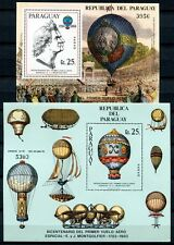 PARAGUAY 1983 Luftfahrt Montgolfiere Ballons Block 385-386 ** MNH
