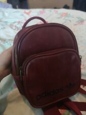 Adidas Original Small Backpack Red Burgundy Leather
