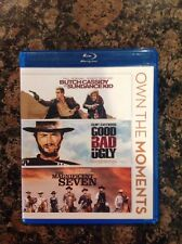 BUTCH CASSIDY & THE SUNDANCE KID,THE GOOD THE BAD&UGLY,MAGNIFICENT Seven(BLU RAY