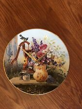 Floral Country Welcome 8 1/2 Inch Clock !