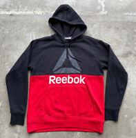 Reebok Training Crossfit Men's Fleece Lined Pullover Hoodie Red Black Sz Large