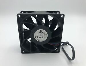 Delta High Airflow DC Fan FFB0912EHE 92mmx38mm 9038 12V 1.5A