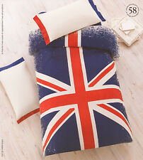 Copripiumino matrimoniale Gabel 250x205 Bandiera inglese cotone Made in Italy