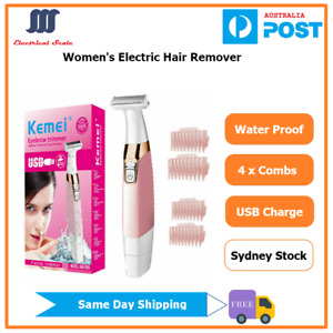 Women's Water-Proof Electric Hair Remover Shaver For Body Eyebrow Face Leg