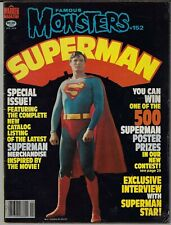 FAMOUS MONSTER OF FILMLAND # 152 CLASSIC SUPERMAN COVER & ISSUE 1979