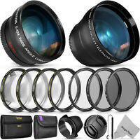 55mm Lens Bundle Accessory Kit for Nikon D3400 w/ AF-P DX 18-55mm f/3.5-5.6G VR