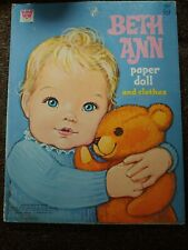 New ListingVintage Beth Ann Paper Doll And Clothes Whitman Book 1970's