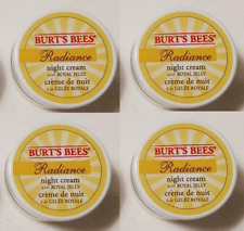 Burt's Bees Radiance Night Cream With Royal Jelly .25 oz Travel Size (Lot of 4)