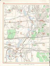 1964  VINTAGE LONDON STREET MAP - IVER,WEST DRAYTON,COLNBROOK,HARMONDSWORTH