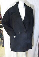 Women's Kristen Blake Double Breasted Lambswool Blend Coat Black Size 2X