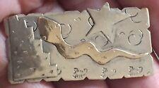 Vintage EPW Sterling Silver Snake Star Brooch Pin