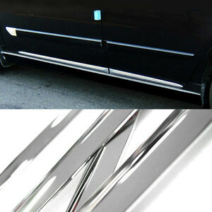 3M Tape Chrome Side Skirt Door Line Sill Garnish Molding Trim 4Pcs for SUBARU