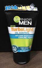 100ml GARNIER for MEN TurboLight Oil Control Brightening Cooling Foam Face Wash
