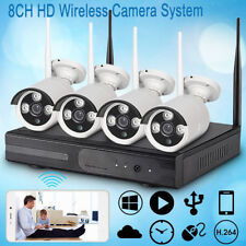 8Ch Wireless Hdmi Nvr Outdoor Ip Wifi Ir Camera Cctv Home Security Video System