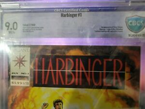 HARBINGER #1  CBCS 9.0 White Pages w/ Coupon