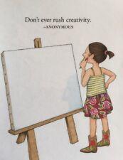 Mary Engelbreit Artwork-Don't Ever Rush-Handmade Fridge Magnet