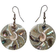 Round Circle Dangle Drop Hook Earrings Womens Ladies Girls Kid Fashion Jewellery