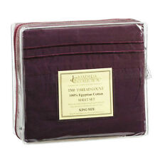 1500 TC THREAD COUNT LUXURY EGYPTIAN COTTON SHEET SET KING SIZE DARK PURPLE