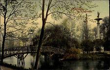 Glauchau Sachsen 1909 Gründelteich Gründelpark Brücke Verlag Dr. Trenkler & Co.