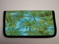 TROPICAL PALM TREE #25  IMAGE NEOPRENE FABRIC  CHECKBOOK COVER