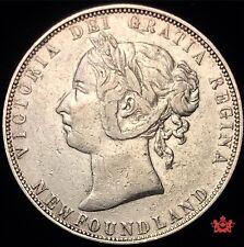 1899 Newfoundland 50 Cents Wide 9 - VF - Lot#1621