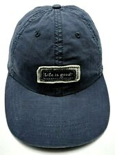 LIFE IS GOOD blue-ish gray adjustable cap / hat - 100% cotton