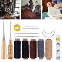 69Pcs Leder Werkzeug Set DIY Handwerk Ledernadeln Stitching Lederhobel Sattler