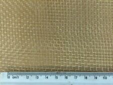 Brass Woven Wire Mesh 0.5m x 3m 8 Mesh Modelling Craft Metalwork Free Postage763