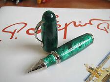 Jean-Pierre Lepine Attila AT42R green marble resin roller ball pen MIB