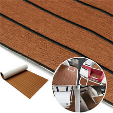 Universal Brown Flooring Mat Car Trunk Floor Carpet Foam Deck Stripe 240x45cm 1x
