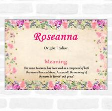Roseanna nom signifiant Floral certificat