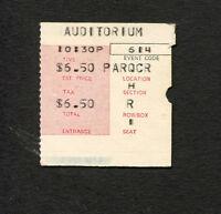 1969 The Doors concert ticket stub Chicago Auditorium Jim Morrison