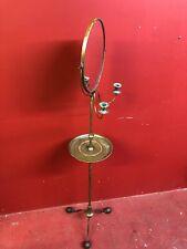 Antique Brass Adjustable Shaving Stand Civil War Era Campaign Portable