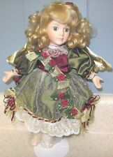 The San Francisco Music Com. Musical Angel Christmas Porcelain Doll w/ stand