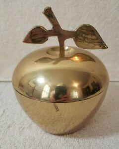 "Golden Apple Decorative - 4.5"" Tall - worn"