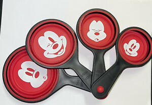 DISNEY COLLAPSIBLE MEASURING CUPS silicone scoop mickey minnie Disney