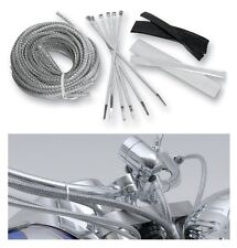 CUSTOM MOTORCYCLE Chrome-style Brake Cable/Line/Hose covers/kit (BA-8200M)