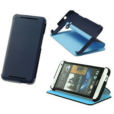 BRAND NEW HTC FLIP CASE COVER SHELL WITH STAND FOR HTC ONE DARK BLUE  HC V841